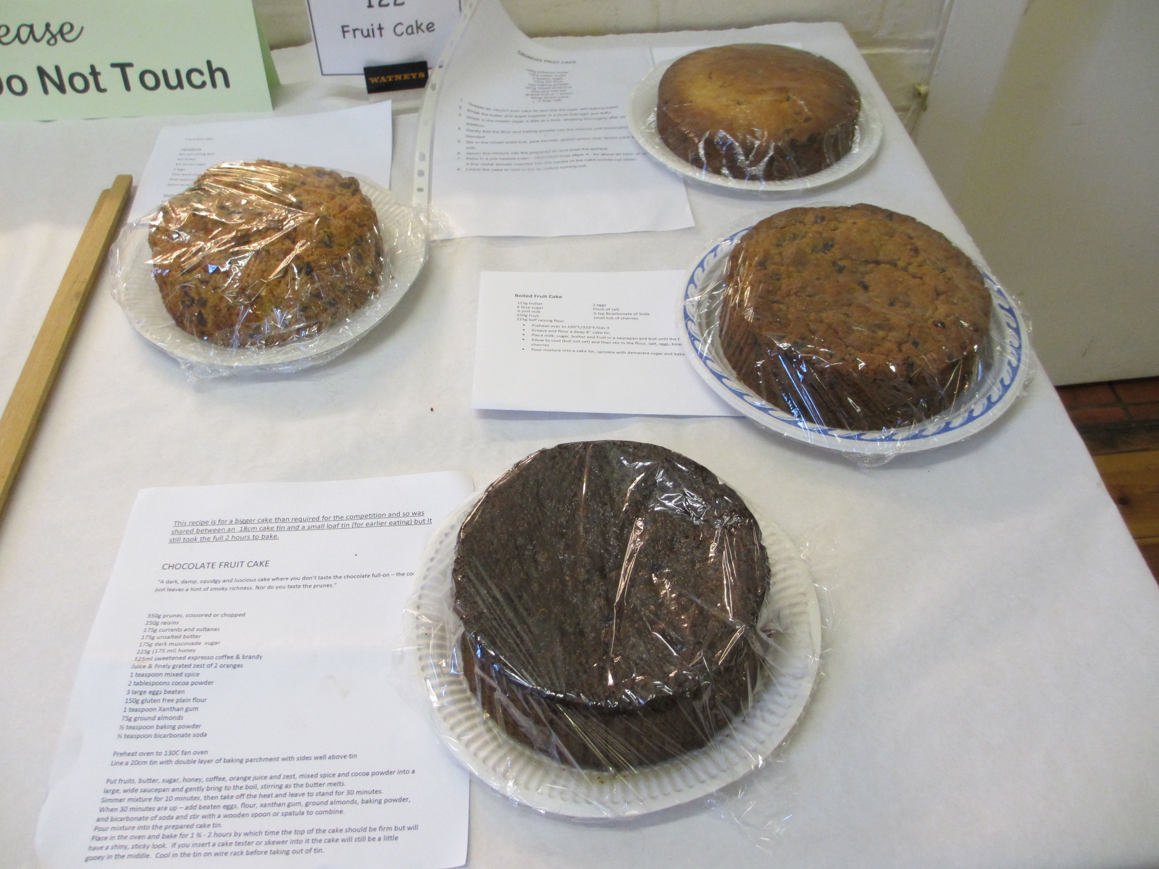 Fruit cake entries